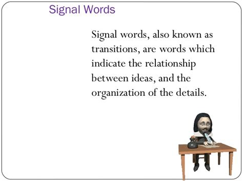 classification pattern signal words recognizing patterns of organization