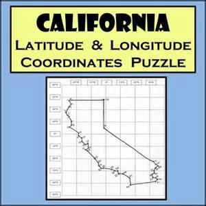 california state latitude longitude coordinates puzzle