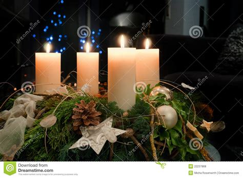 Candle Light Decoration At Home advent wreath stock photo image of holiday december