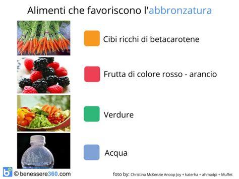 alimenti con melanina abbronzatura perfetta consigli alimenti giusti