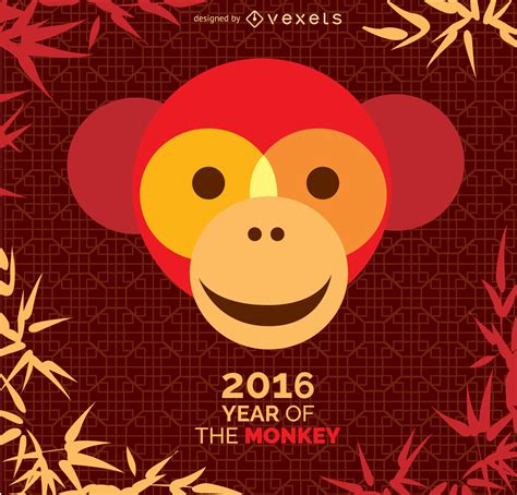 Year Of Monkey 2016 year of the monkey 2016 design free vector