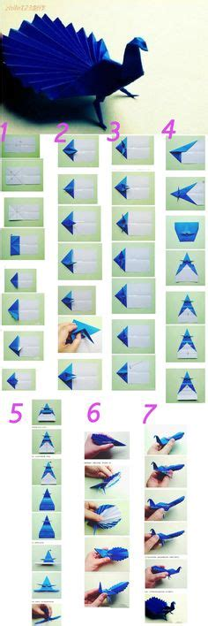 How To Make An Origami Peacock Step By Step - 1000 ideas about origami on origami step by