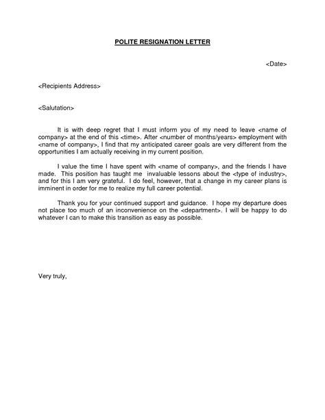 polite resignation letter bestdealformoneywriting letter