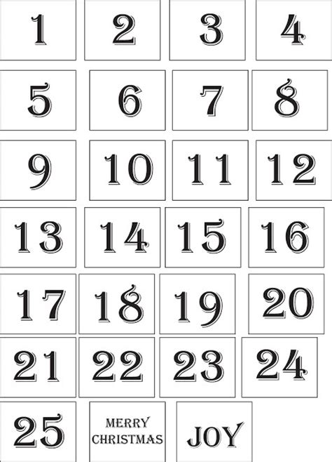 printable numbers 1 25 1000 images about 164 adventskalender 164 on pinterest advent