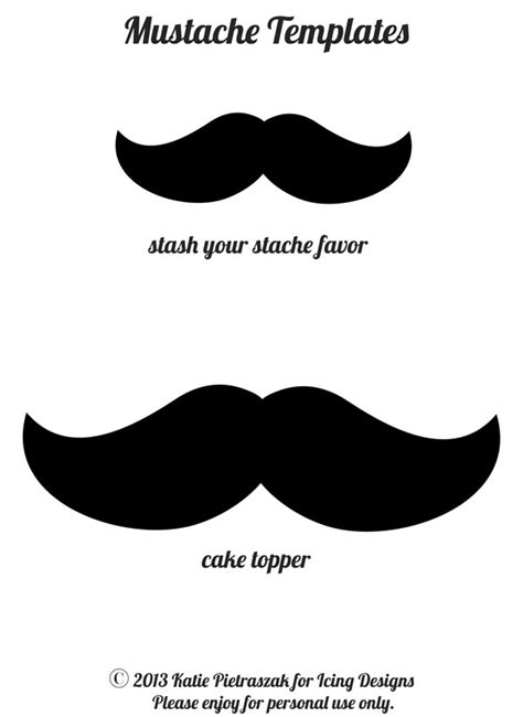 mustache templates icing designs diy stash your stache favors