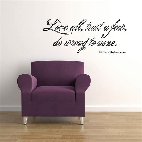 all shakespeare wall sticker quote by spin collective notonthehighstreet