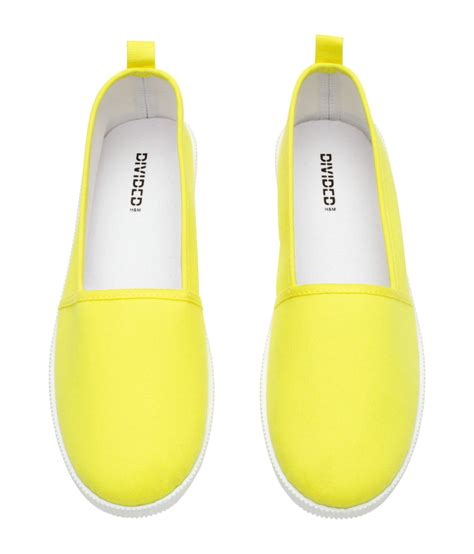 Slip On H M by H M Slip On Shoes In Yellow Lyst