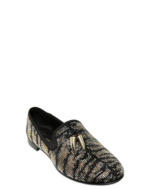 homme loafers giuseppe zanotti homme suede loafers with horn