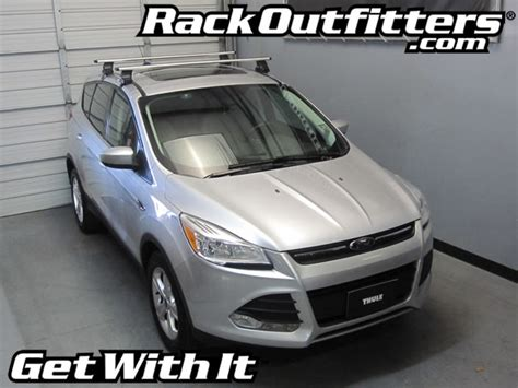 Roof Rack 2013 Ford Escape by New Ford Escape Thule Rapid Traverse Silver Aeroblade Base
