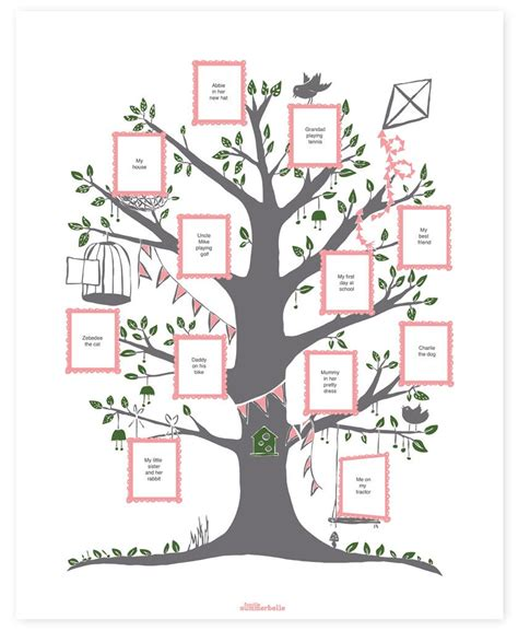 How To Make A Family Tree On Paper For - family tree create your family tree gift idea for the