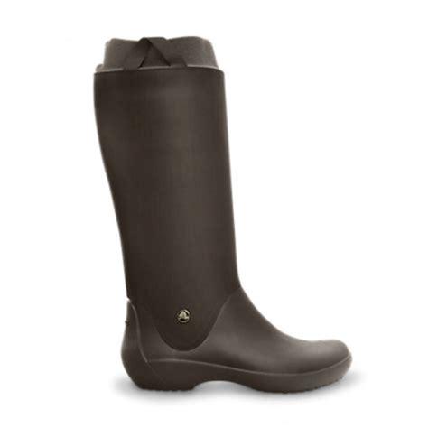croc boots crocs crocs rainfloe espresso n109 womens wellies