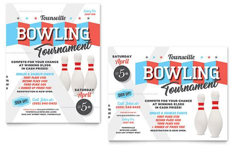 templates for posters in publisher bowling poster template design