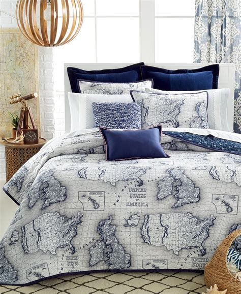 macys bedding quilts closeout tommy hilfiger explorer quilt collection