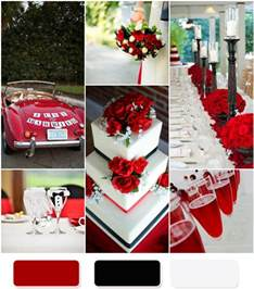 Red Black And White Wedding The Red Wedding Color Combination Ideas