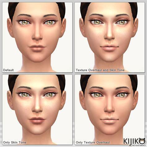 sims 4 default skin replacement skin tones glow edition and skin texture overhaul kijiko
