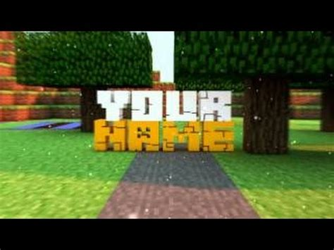 Top 5 Panzoid Minecraft Intro Template Free Download 1 Youtube Minecraft Intro Template