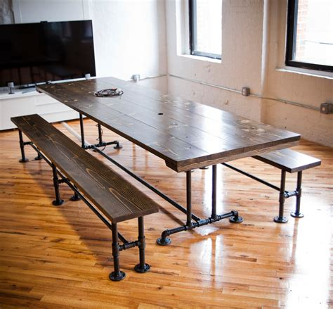 Rustic Conference Table Industrial Conference Table Industrial Table With Metal
