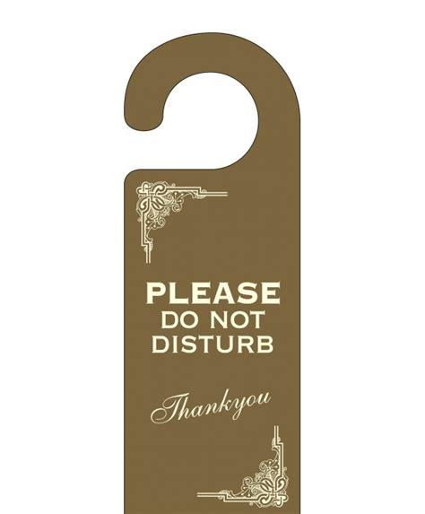 Do Not Disturb Door Hanger by Do Not Disturb Door Hangers