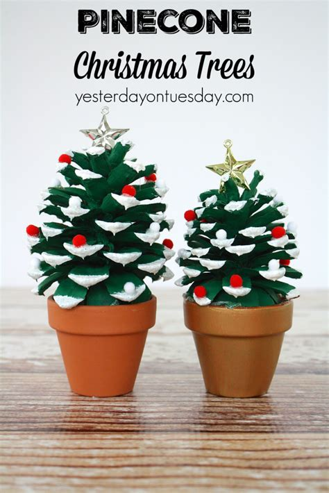 tree crafts for adults pinecone trees a pinecone craft for or
