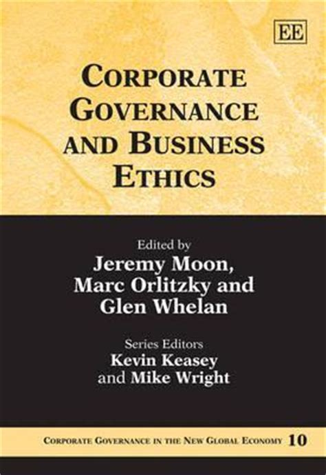 Mba Degree Business Ethics And Corporate Governance by Corporate Governance And Business Ethics Moon