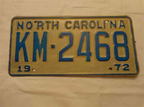 printable paper license plates south dakota north carolina nc metal 1972 license plate 72 car tag km