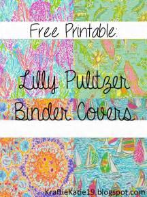 Kraftie katie lilly pulitzer binder covers diy free printable