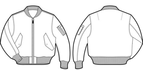 Produksi Jaket Parka Bomber Sweater Jumper Baseball Blazer Jas jacket technical drawing cerca con disegno