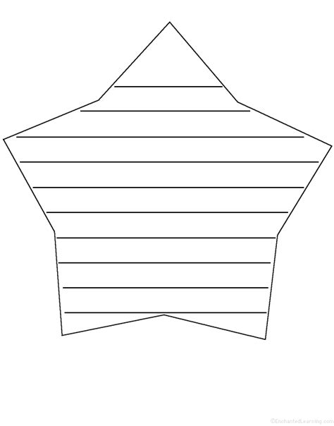 shaped writing template shapes at enchantedlearning