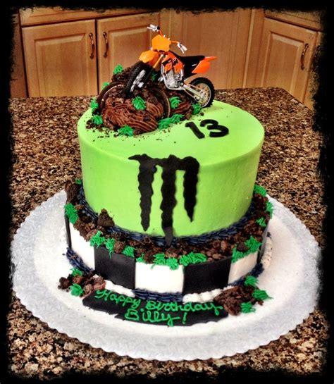 motocross bike cake dirt bike monster energy cake my cakes pinterest