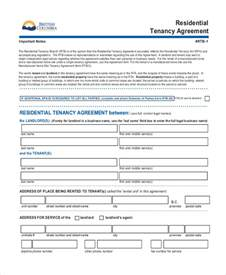 tenant landlord lease agreement template doc 728901 sle standard lease agreement exle