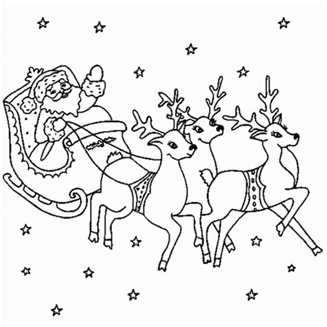 coloring page of santa in his sleigh santa sleigh colouring santa sleigh and reindeer