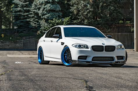white bmw black rims alpine white bmw f10 m5 adv10 tf cs series wheels