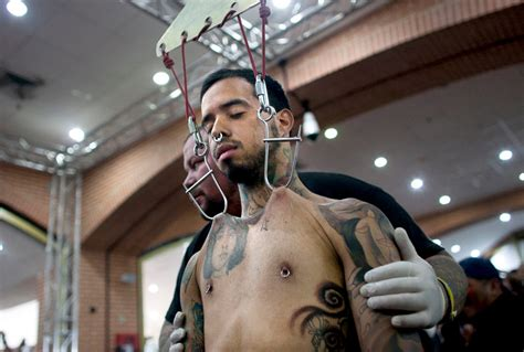 expo extreme tattoo des moines extreme body art on display at venezuela convention the eye
