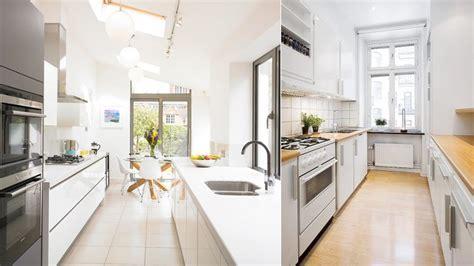 decorar cocina pequeña alargada cocinas modernas pequeas alargadas cocina moderna blanca