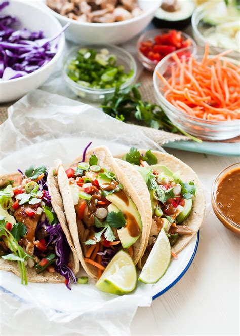 thai chicken tacos recipe dishmaps
