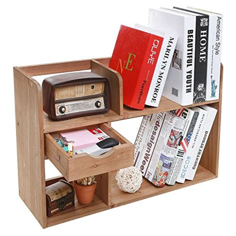 freestanding rustic style wood 4 shelf compartment storage