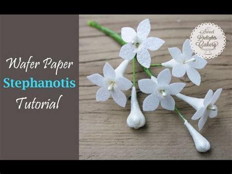 wafer paper fantasy flower tutorial wafer paper stephanotis tutorial youtube