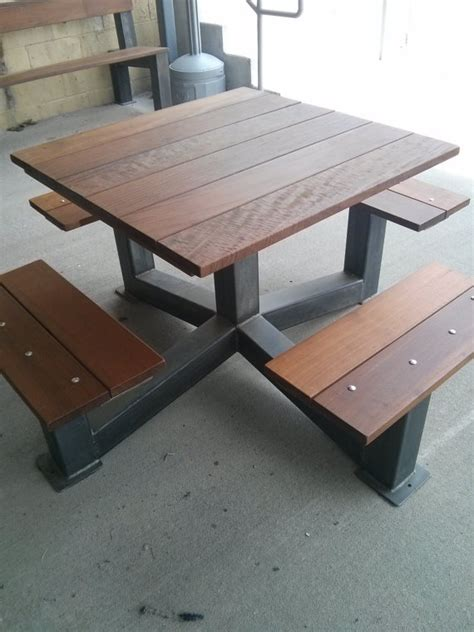 dining table outdoor modern industrial style picnic table