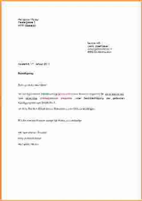 6 k 252 ndigung vorlage bewerbungsschreiben