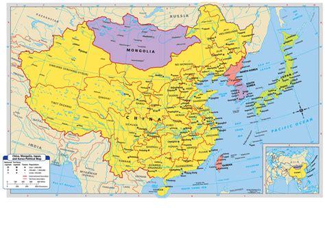 china korea maps china mongolia the koreas and japan