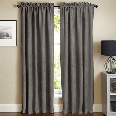 steel grey curtains blazing needles 84 inch blackout curtain panels in steel