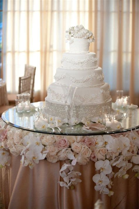 Glamorous, yet still somehow understated, cake   Wedding