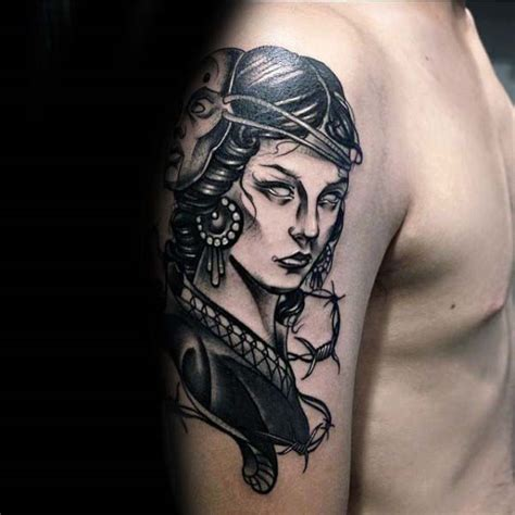 female upper arm tattoos 60 gemini tattoos for zodiac ink design ideas