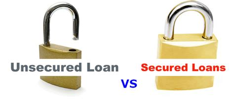 the difference between secured and unsecured bad credit loans