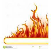 Feuer Fahne  In Hohem Grade Ausf&252hrliche Vektorabbildung Mit Flammen