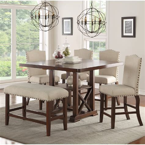 infini furnishings amelie ii 6 piece counter height dining