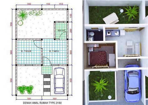layout rumah type 30 detail contoh denah rumah minimalis type 21 paling lengkap