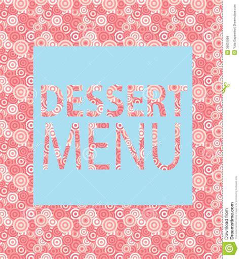 Dessert Menu Template Vector Illustration Stock Image Image Of Brochure Invitation 36031599 Dessert Menu Template