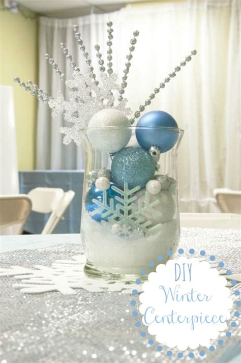 ideas for centerpieces to make 12 days of day 6 winter centerpiece all that