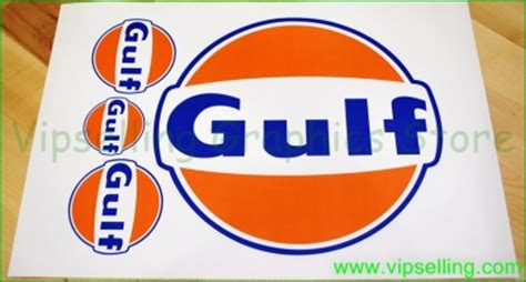 Gulf Racing Aufkleber by Gulf Le Mans Large 300mm Racing Bonnet Decal Sticker